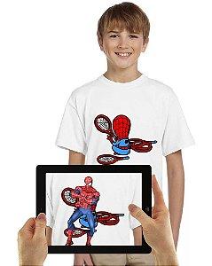 Camiseta Homem Aranha infantil com Realidade Aumentada