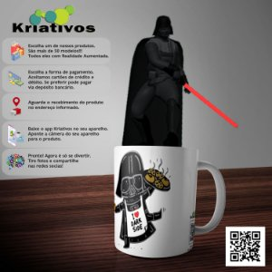 Caneca Darth Vader com Realidade Aumentada