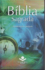 BÍBLIA SAGRADA CAPA DURA REVISTA E ATUALIZADA AZUL