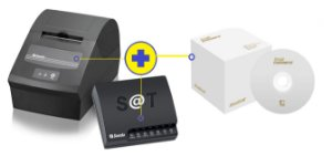 Kit SAT Sweda SS-2000  + Impressora de Cupom Sweda SI-150 (USB + Serial) + Programa de Automação Small Commerce 2018