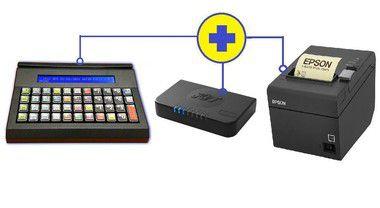 Kit Teclado inteligente iSAT IFOX + SAT Kryptus EASYS@T + Impressora de Cupom Epson TM-T20 USB