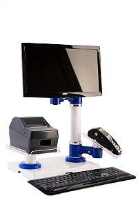 Kit de suporte para monitor, máquina de cartão e impressora térmica com base - ND 007