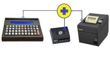Kit Teclado inteligente iSAT IFOX + SAT Sweda SS-2000 + Impressora de Cupom Epson TM-T20 USB
