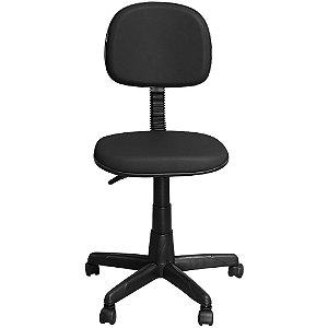 Cadeira Escritório Secretária Preta Giratória com Regulagem de Altura - Pethiflex