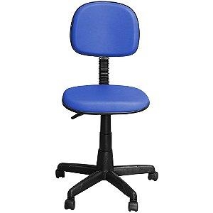 Cadeira Escritório Secretária Azul Giratória com Regulagem de Altura - Pethiflex