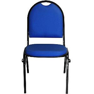 Cadeira Fixa Azul com Encaixe para Virar Longarina Essencial Hot - Pethiflex