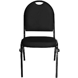 Cadeira Fixa Preta com Encaixe para Virar Longarina Essencial Hot - Pethiflex