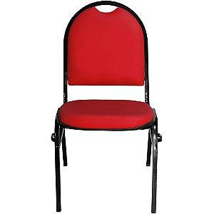 Cadeira Fixa Vermelhacom Encaixe para Virar Longarina Essencial Hot - Pethiflex