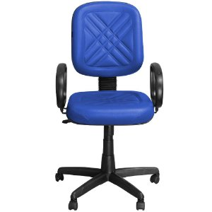 Cadeira Diretor Azul Giratória com Regulagem e Braço de Apoio - Pethiflex