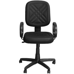 Cadeira Diretor Preta Giratória com Regulagem e Braço de Apoio - Pethiflex