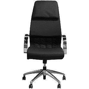 Cadeira Escritório Suprema Luxo Giratória Preta com Estrela em Alumínio - Pethiflex