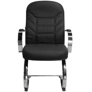 Cadeira Magnífica Diretor Preta Fixa Pés e Braços Cromados - Pethiflex