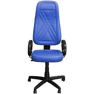 Cadeira de Escritório Presidente Giratória Azul - Pethiflex