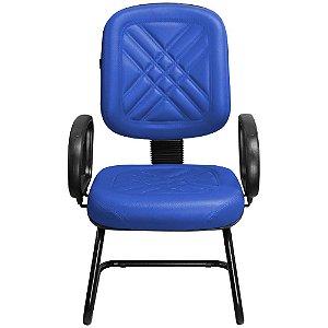 Cadeira Fixa para Recepções e Igrejas Diretor Azul - Pethiflex