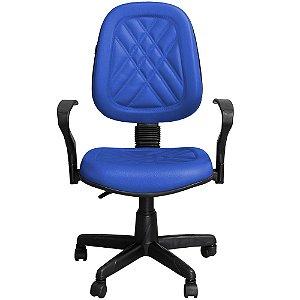 Cadeira para Escritório Giratória Executiva Azul com Braços - Pethiflex