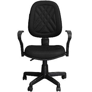 Cadeira para Escritório Giratória Executiva Preta com Braços - Pethiflex