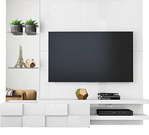 Painel para TV Turim Branco Laco - DJ Móveis