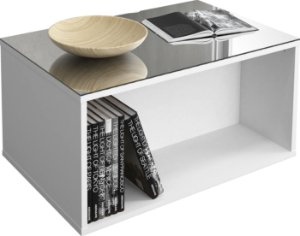 Mesa de Centro Classic Branco Brilho - DJ Móveis