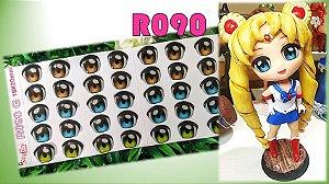 Olhos Resinados R090 Chibis e Anime - Stylier