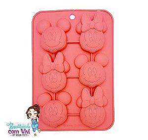 Molde Forma de Silicone - Mickey e Minnie