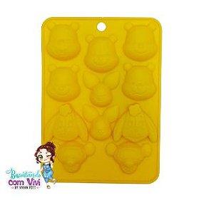 Molde Forma de Silicone (Pequena)  - Ursinho Pooh e amigos