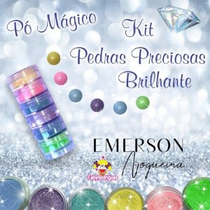 Pó Mágico Kit Pedras Preciosas Brilhante