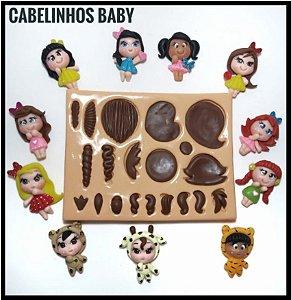 Molde Cabelinhos Baby - Ateliê do Molde