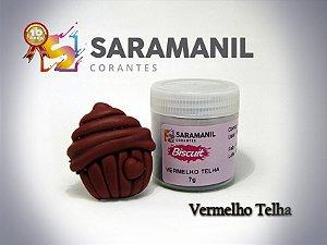 Corante em pó Vermelho Telha - Saramanil