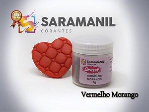 Corante em pó Vermelho Morango - Saramanil