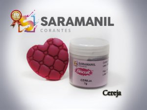 Corante em pó Cereja - Saramanil
