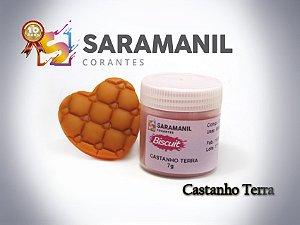 Corante em pó Castanho Terra - Saramanil