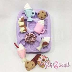 Molde de Silicone Delicinhas Doces - Sah Biscuit