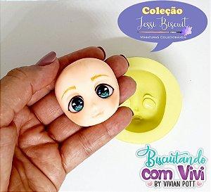 Molde Cabeça Doll Lolita P - Coleção Jessi Biscuit - BCV