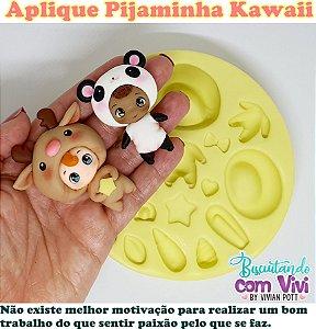 Molde Apliques Kawaii - Pijaminha - BCV