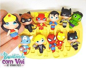 Molde Aplique Mini Toy - Heróis - BCV