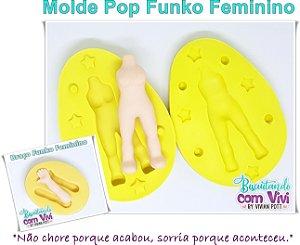 Molde Bipartido Pop Funko - Corpo Feminino M - BCV