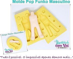Molde Bipartido Pop Funko - Corpo Masculino M - BCV