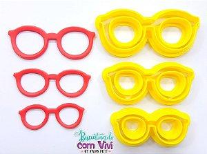 Kit Cortador de Óculos - Modelo Retrô (3 Tamanhos)