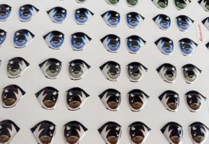 Olhos adesivos - Cod 383 Monicarts