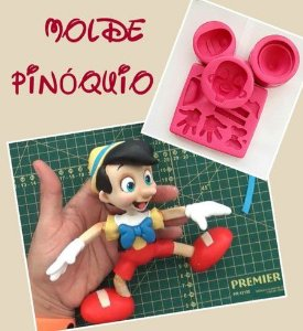 Molde Pinóquio - Mundo de Massinha