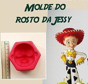 Molde Cabeça Jessy - Mundo de Massinha