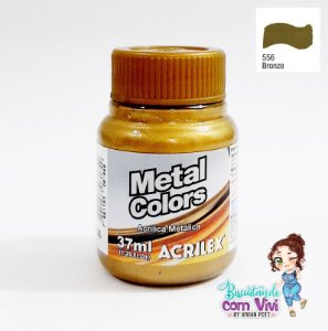 Tinta Acrílica Metal Colors Acrilex - Bronze
