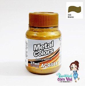 Tinta Acrílica Metal Colors Acrilex - Bronze