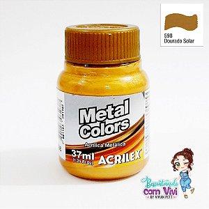 Tinta Acrílica Metal Colors Acrilex - Dourado Solar
