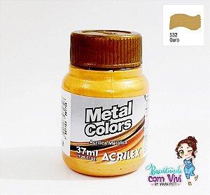 Tinta Acrílica Metal Colors Acrilex - Ouro