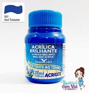 Tinta Acrílica Brilhante Acrilex - Azul Turquesa