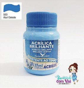 Tinta Acrílica Brilhante Acrilex - Azul Celeste