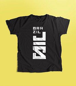Camiseta cinza BrazilJS algodão