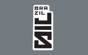 Adesivo BrazilJS Vertical Preto e Branco detalhe topo