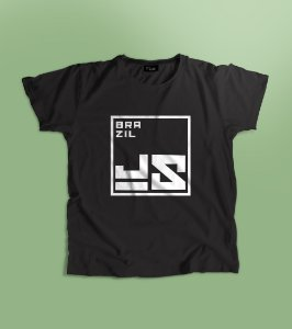 Camiseta BrazilJS logo branco quadrado